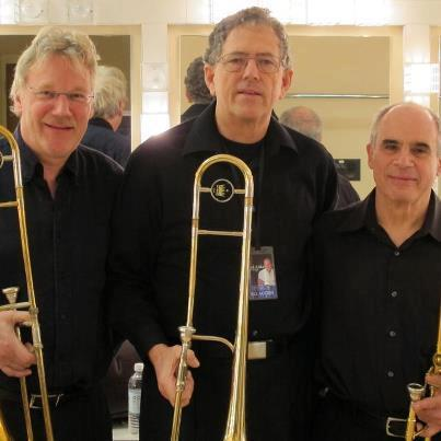 Paul Anka's Trombone section. George Flynn, Craig Woods and yours truly