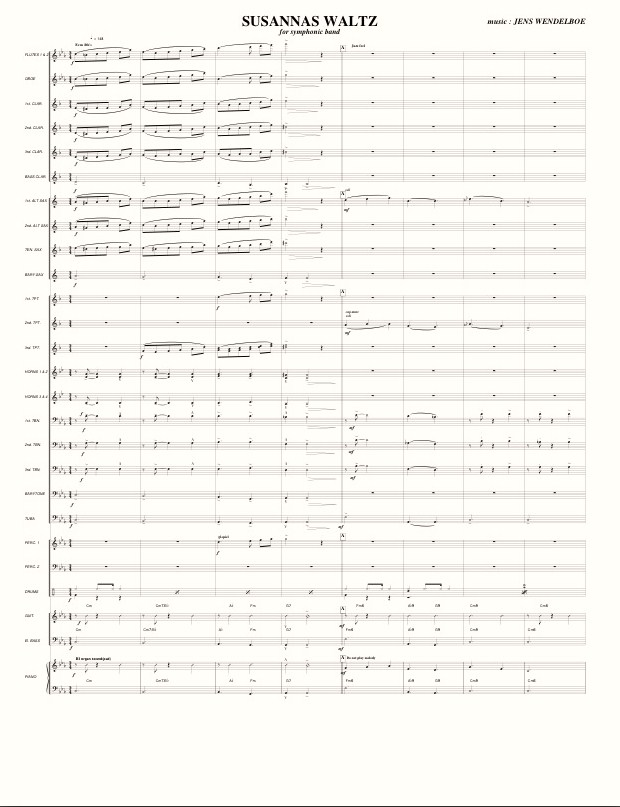 Concert Band score sample