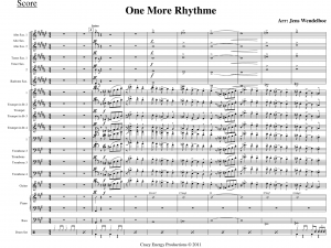 Big Band with Vocal score sample