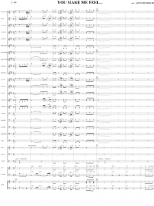 Concert Band Arrangements score sample